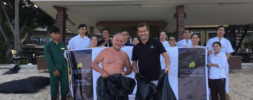 Beach Cleaning at Impiana Resort Chaweng Noi 2017