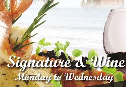 Signature set menu & Wine: Monday to Wednesday