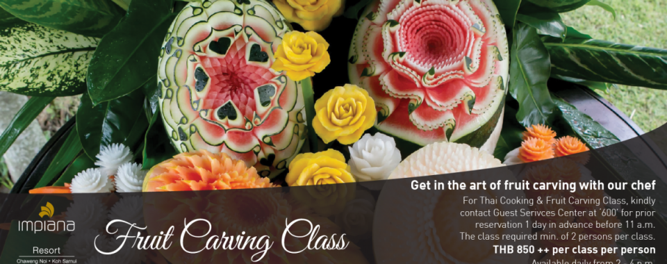 Fruits Carving Class