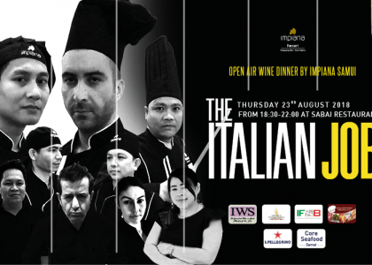 The Italian Job - wine dinner