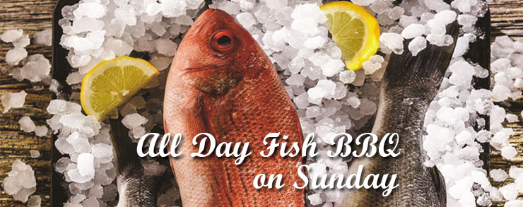 Fish BBQ all day on Sunday