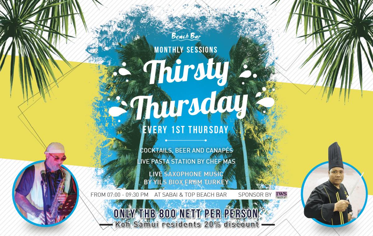 Thirsty Thursday  Banner