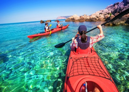 Kayaking, snorkeling, sightseeing