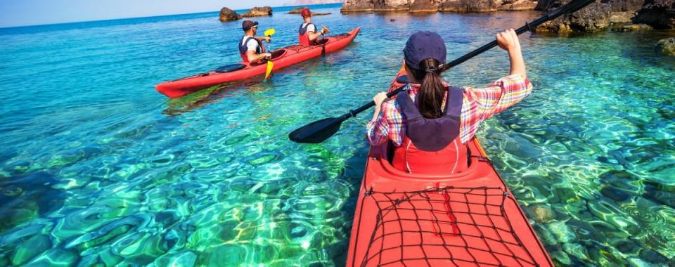 Kayaking, snorkeling, sightseeing