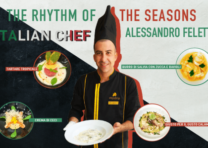 Signature dishes by Italian Chef Alex