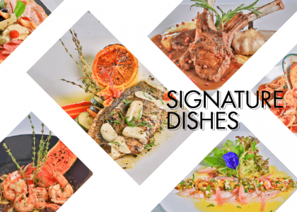 Signature dishes by Executive Chef Mas